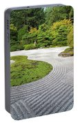 Japanese Flat Garden With Checkerboard Pattern Portable Battery Charger