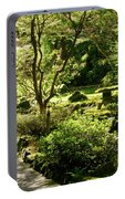 Japanese Garden At Butchart Gardens In Spring Portable Battery Charger