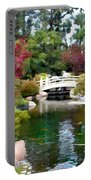 Japanese Garden Bridge And Koi Pond Portable Battery Charger