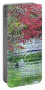 Japanese Garden Bridge In Springtime Portable Battery Charger