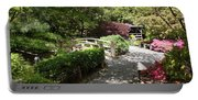 Japanese Garden Path With Azaleas Portable Battery Charger