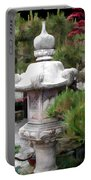 Japanese Garden Stone Lantern Statue Portable Battery Charger
