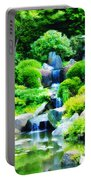 Japanese Garden Waterfall Portable Battery Charger