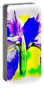 Japanese Iris Pop Art Abstract Portable Battery Charger