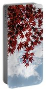 Japanese Maple Red Lace - Horizontal View Downwards Right Portable Battery Charger