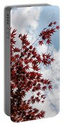 Japanese Maple Red Lace - Vertical Up Right Portable Battery Charger