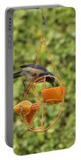 Jay At Feeder I Portable Battery Charger