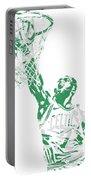 Jaylen Brown Boston Celtics Pixel Art 12 Portable Battery Charger