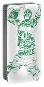 Jayson Tatum Boston Celtics Pixel Art 11 Portable Battery Charger