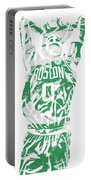 Jayson Tatum Boston Celtics Pixel Art 12 Portable Battery Charger