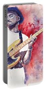 Jazz Guitarist Marcus Miller Red Portable Battery Charger