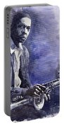 Jazz Saxophonist John Coltrane 03 Portable Battery Charger