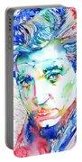 Jean Gabin - Colored Pens Portrait Portable Battery Charger
