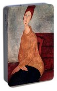 Jeanne Hebuterne In A Yellow Jumper Portable Battery Charger