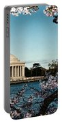 Jefferson Memorial In Spring Portable Battery Charger