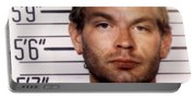 Jeffrey Dahmer Mug Shot 1991 Square  Portable Battery Charger