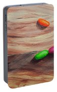 Jelly Beans On Wood Portable Battery Charger