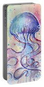 Jelly Fish Watercolor Portable Battery Charger