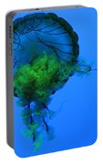 Jellyfish In Green Portable Battery Charger