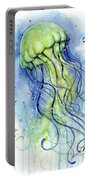 Jellyfish Watercolor Portable Battery Charger