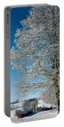 Jenne Farm Winter In Vermont Portable Battery Charger by Edward Fielding