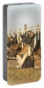 Jersey Cows Feeding Portable Battery Charger