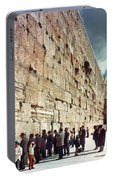 Jerusalem  Wailing Wall - To License For Professional Use Visit Granger.com Portable Battery Charger
