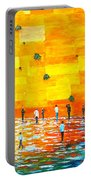 Jerusalem Wailing Wall Original Acrylic Palette Knife Painting Portable Battery Charger