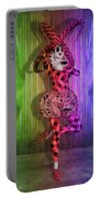 Jester Rainbow Girl  Portable Battery Charger