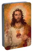 Jesus Abstract Portable Battery Charger