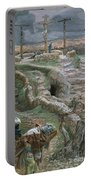 Jesus Alone On The Cross Portable Battery Charger by Tissot