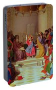 Jesus Among The Doctors Portable Battery Charger