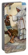 Jesus And The Blind Man Portable Battery Charger