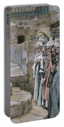 Jesus And The Little Child Portable Battery Charger by Tissot