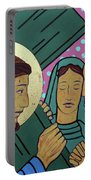 Jesus And The Women Of Jerusalem Portable Battery Charger