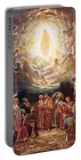 Jesus Ascending Into Heaven Portable Battery Charger by William Brassey Hole