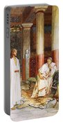 Jesus Being Interviewed Privately Portable Battery Charger by William Brassey Hole