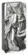 Jesus Changes Water Into Wine, Gospel Of John Portable Battery Charger