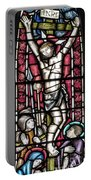 Jesus Christ Crucifixtion Stained Glass Portable Battery Charger