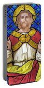 Jesus Christ Stained Glass Portable Battery Charger