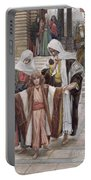 Jesus Found In The Temple Portable Battery Charger by Tissot