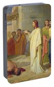 Jesus Healing The Leper Portable Battery Charger