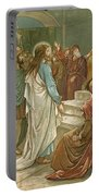 Jesus In Front Of Pilate Portable Battery Charger