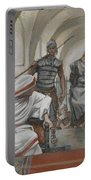 Jesus Led From Herod To Pilate Portable Battery Charger by Tissot