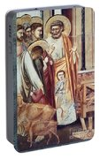 Jesus & Moneychanger Portable Battery Charger