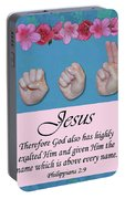Jesus Name Above All Names Portable Battery Charger