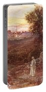 Jesus On The Mount Of Olives Portable Battery Charger by William Brassey Hole