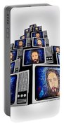 Jesus On Tv Portable Battery Charger