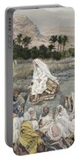 Jesus Preaching By The Seashore Portable Battery Charger