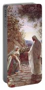 Jesus Revealing Himself To Mary Magdalene Portable Battery Charger